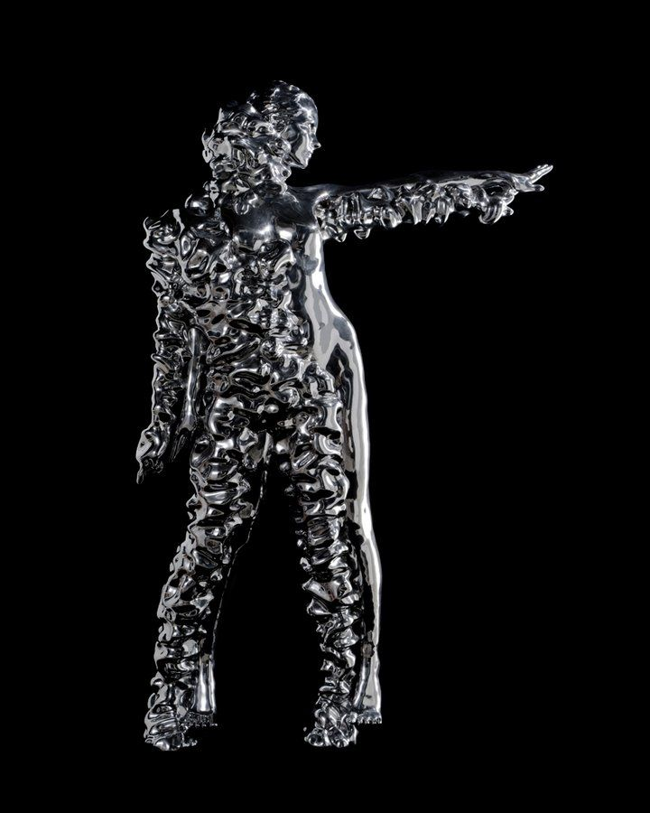 Kohei Nawa's new work merges 3D scanning and texture mapping