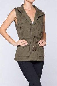 Safari Vest Olive Green
