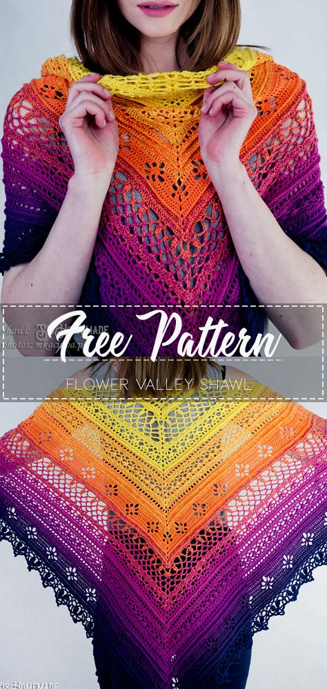 Flower Valley Shawl – Free Pattern