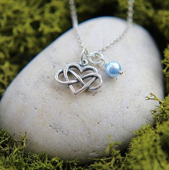 Heart Infinity Necklace Infinity Necklace Sterling by JewelleryJKW