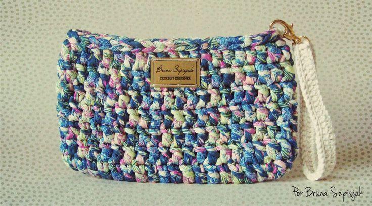 Aprendiz de Crocheteiras: Carteira de Crochê de Malha | Minhas Criações