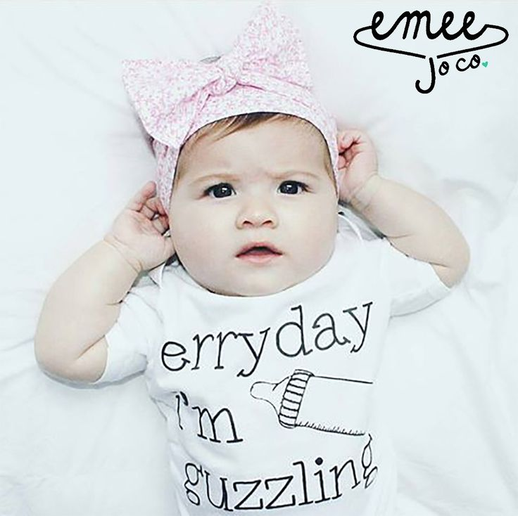 """This design is exclusive to Emee Jo Co. It was one of our first designs and quickly became our most popular. Our """"Erryday I'm Guzzlin"""" bodysuit or t-shirts is a must have for any baby girl or baby boy"""