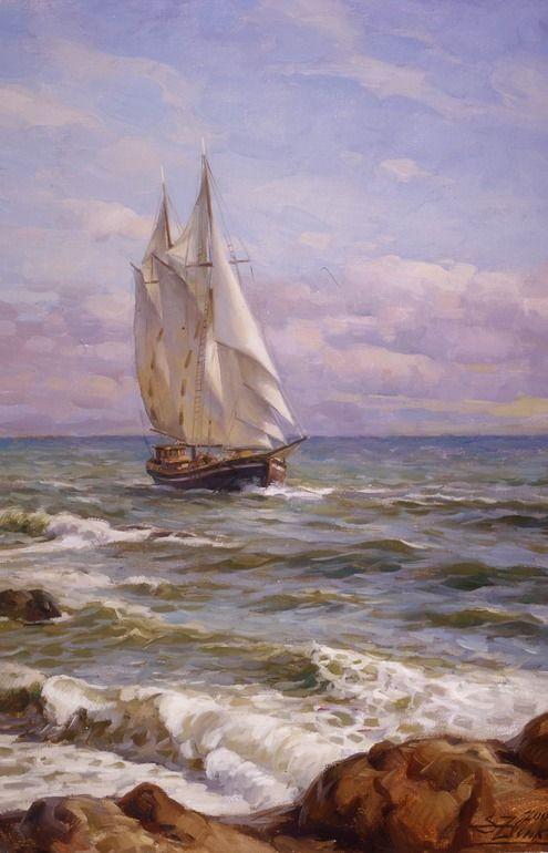 """Saatchi Art Artist: Serguei Zlenko; """"Way to harbour"""""""