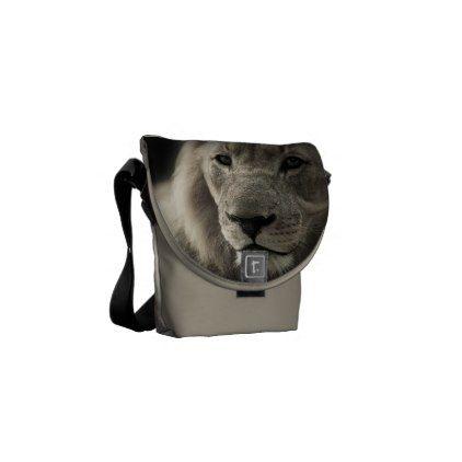 Lion Africa Cat Animal Pattern Destiny Destiny's Courier Bag - cat cats kitten kitty pet love pussy
