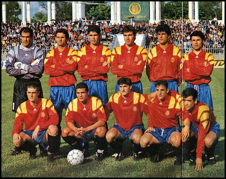 Equipos de fútbol: ESPAÑA Selección 1990-1994