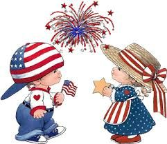 Image result for american flag and fireworks clipart