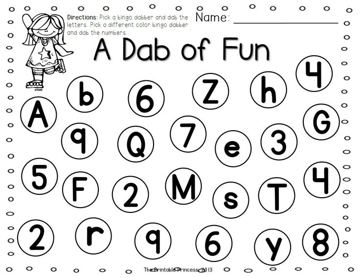 a dab of learning bingo dabber alphabet number recognition activities preschool palooza. Black Bedroom Furniture Sets. Home Design Ideas
