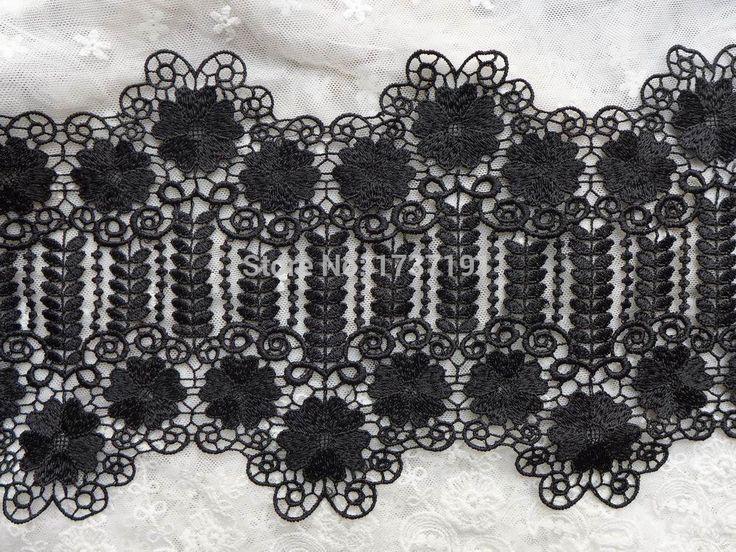Великолепный черный венеция цветок кружевной отделкой с нерегулярные дизайн для черное платье, корсеты, бурлеск, пояса, аппликация, швейные