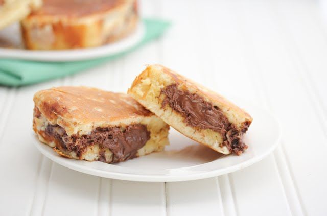 Nutella stuffed Pancake French Toast. how i love breakfast foods and all they have to offer.
