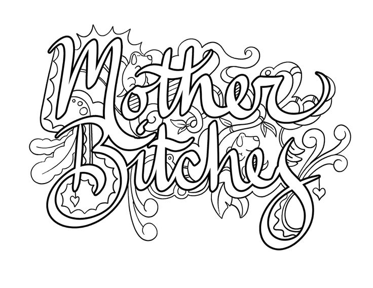 299 best Swear Words Adult Coloring Pages images on