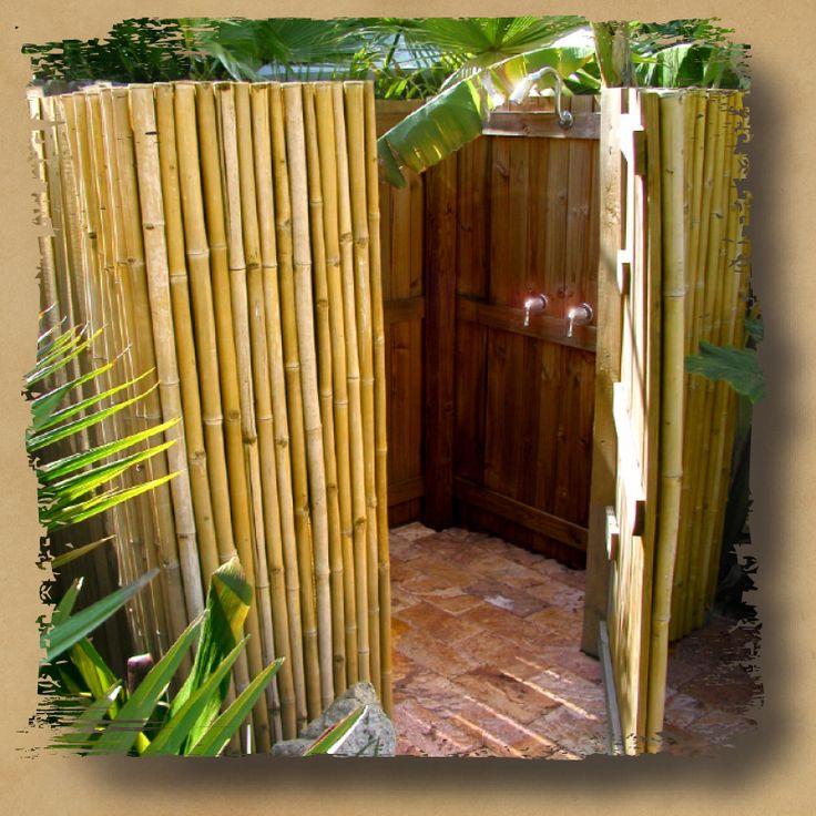 Outdoor shower enclosure bamboo shower congok com i - Outdoor shower enclosure ideas ...