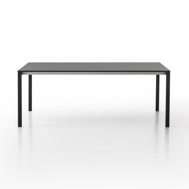 Kristalia be-Easy Fenix-NTM dining table - 01BEA01F#IngoBlack#Fenix#0720 | Reuter-Shop.com