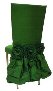 Dupioni Silk Emerald Green Chair Back