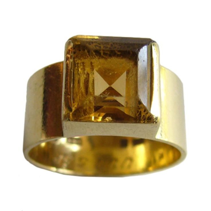WIWEN NILSSON Gold and Citrine Ring #CocktailRings