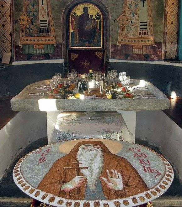 Kollyva + + + Κύριε Ἰησοῦ Χριστέ, Υἱὲ τοῦ Θεοῦ, ἐλέησόν με τὸν + + + The Eastern Orthodox Facebook: https://www.facebook.com/TheEasternOrthodox Pinterest The Eastern Orthodox: http://www.pinterest.com/easternorthodox/ Pinterest The Eastern Orthodox Saints: http://www.pinterest.com/easternorthodo2/