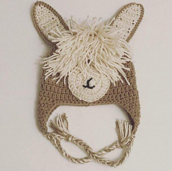Crochet Llama Hat - Baby Llama Hat - Baby Photo Prop - Llama Photo Prop - Llama Hat