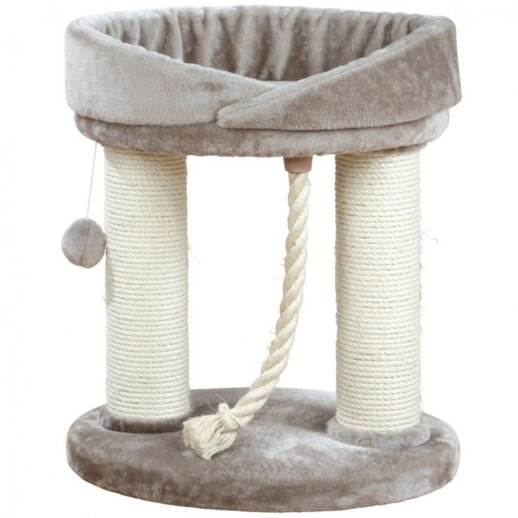Cat Scratching Tower Cathouse Ball Toy Playground Post Relaxing Kitten Bed Grey #CatScratchingTower