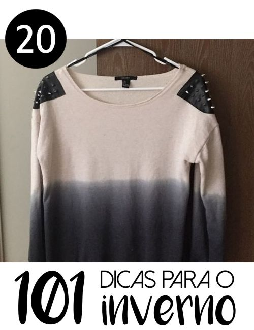 # 20 - 9 IDEIAS PARA CUSTOMIZAR CAMISETA MANGA LONGA - 101 ideias de faça você mesmo para o inverno. Confira ideias inspiradoras para customizar camisetas de manga longa
