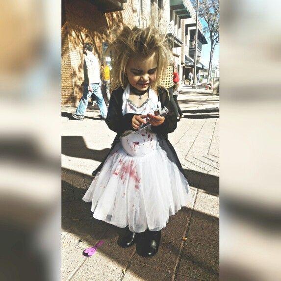 Bride Chucky Halloween Makeup Outfit