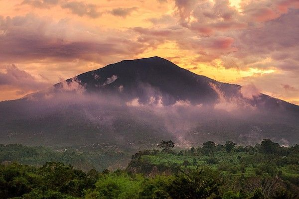 Sunset at Gunung Singgalang of Sumatra_ Indonesia