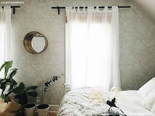 11 diy wall stencil ideas for dreamy feminine romantic bedroom decor royal design studio - Bedroom Stencil Ideas
