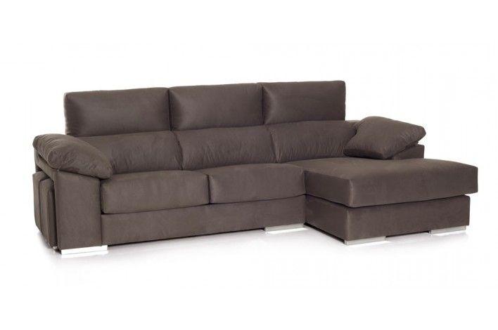 Un sof con chaise longue muy c modo con asientos deslizantes y cabezales reclinables y muy - Sofas muy comodos ...