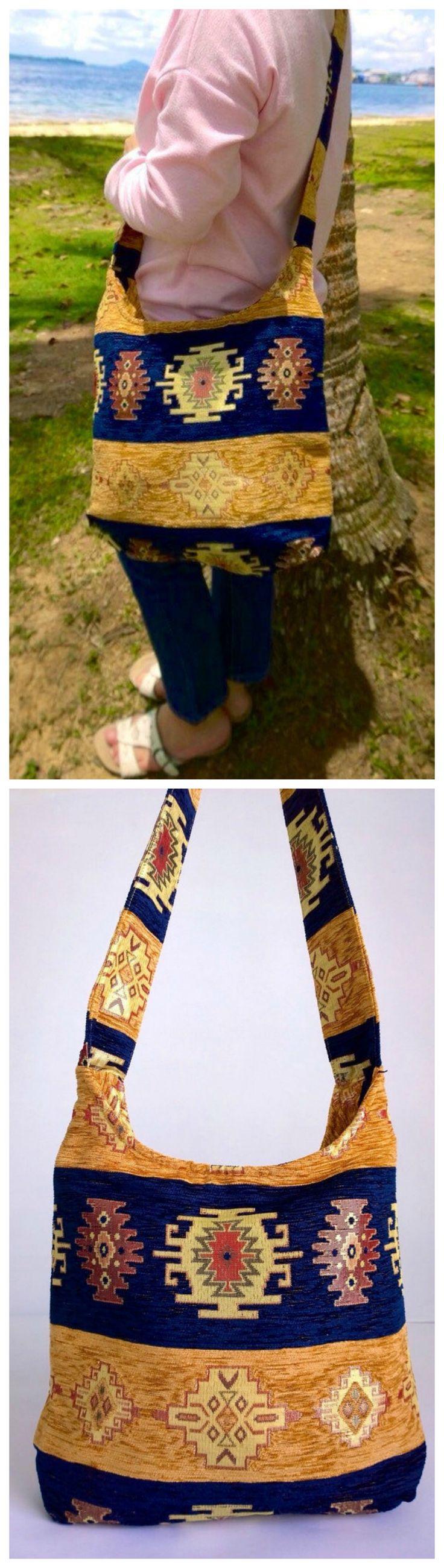 Boho Crossbody Bag - Embroidery Bag - Ethnic Bag ( FREE SHIPPING WORLDWIDE )
