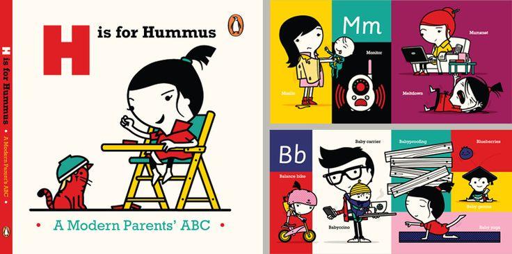 Spencer Wilson - H for Hummus - A Modern Parent's ABC  Tiphaine-illustration  #alphabetbook #kids