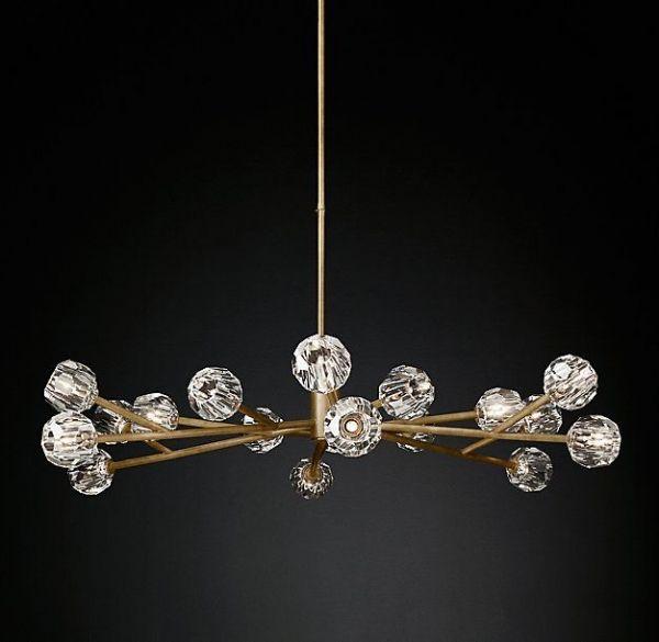 Люстра RH Boule De Cristal Round Chandelier 48