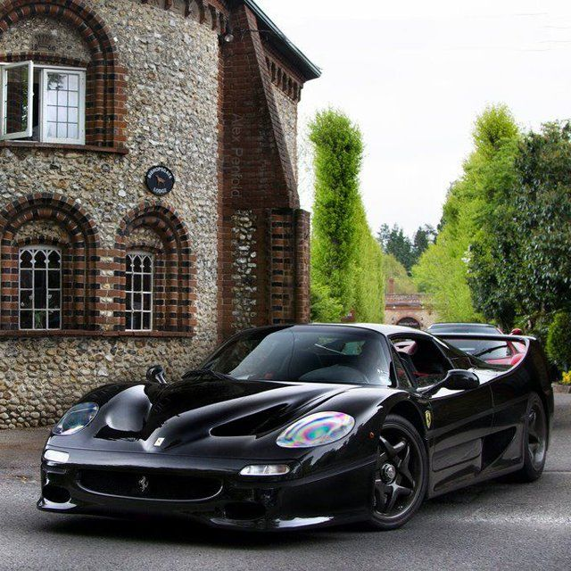 Old world meets new!  ~ Castle & Ferrari F50