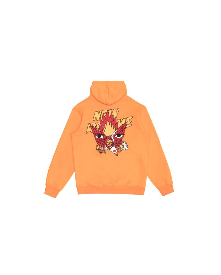 Ricardo Cavolo X Atelier New Regime Guardian Eagle Hoodie (Orange) / Made of soft-touch cotton fleece, this hoodie features the Guardian Eagle collab artwork embroidery at the back, depicting the strength, freedom and inspiration that the eagle is known to represent. #ricardocavolo