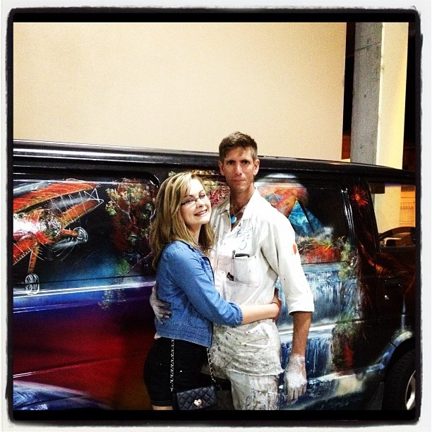 Emma Howell enjoyed  photo with Jared Lyell Tamworth country music Festival 2012