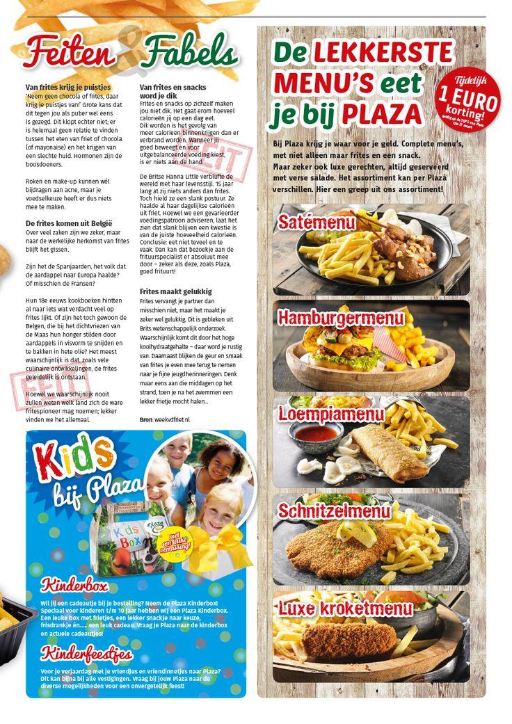 Plaza Food For All voor heerlijke frites, snacks, complete maaltijden, burgers en salades. Kijk op de website voor de vestiging bij jou in de buurt!