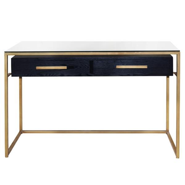 Firenze Floating Console Table - Espresso Black