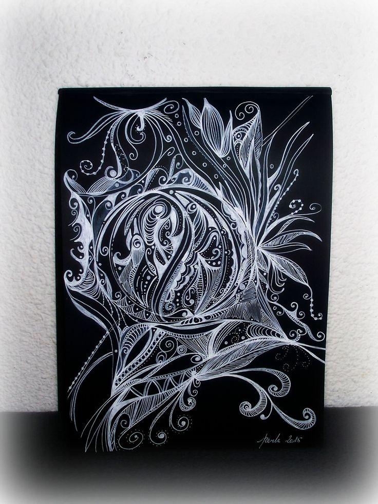 imagine imaginaire feutre blanc sur papier noir dessins par moipetiteperle illustrations. Black Bedroom Furniture Sets. Home Design Ideas