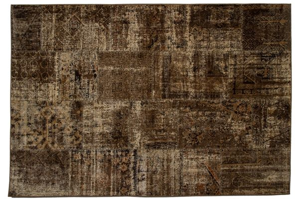 Casa Uno Viscose Home Carpet Area Rug Matrix Patch Natural- New