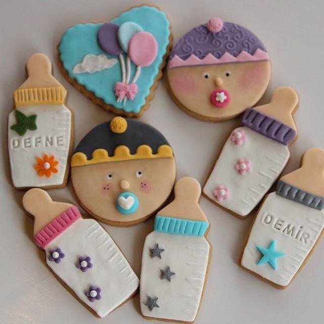 Şeker hamuru kurabiye. Bu minnoş kurabiyeleri;  babyshower partileriniz, bebek mevlütleriniz ve hastane odası ikramlarınız için hazırlıyoruz. Ayrıca aynı konseptte cupcakelerini de üretmemiz mümkün.  #babyshower #butikkurabiyeankara #şekerhamurukurabiye #kids #Homemade #butikpastaankara #bebekmevlüdü bebek kurabiye