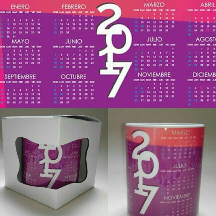 Mugs, calendario 2017 L Hermann Diseñadora Gráfica