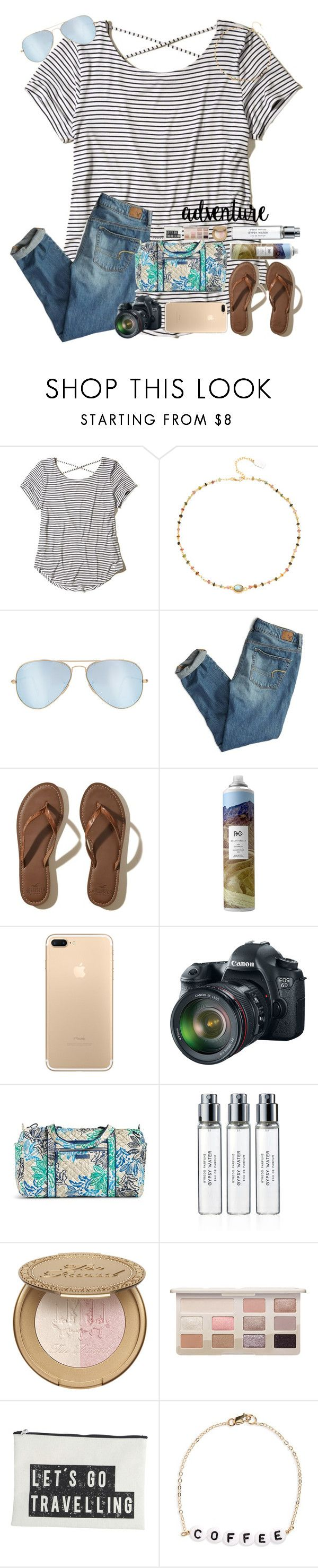 """Be fearless in the pursuit of what sets your soul on fire."" by erinleigh02 ❤ liked on Polyvore featuring Hollister Co., Ela Rae, Ray-Ban, American Eagle Outfitters, R+Co, Eos, Vera Bradley, Byredo, House Doctor and Ryan Porter"