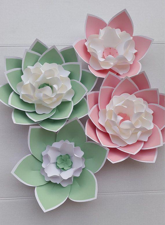 Fleurs En Papier Pour Mariage #3: Décor De Fleur De Papier, Papier Unique Décor De Fleurs, Fleurs Géantes En  Papier