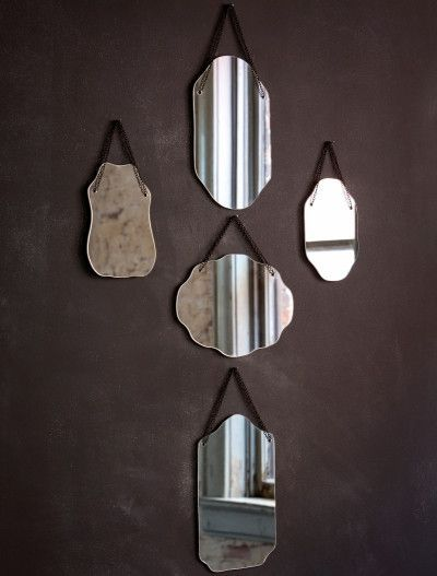 Vintage Style Parlor Mirror - 1/each (Picture shows 5 assorted styles- this purchase is for 1 mirror)