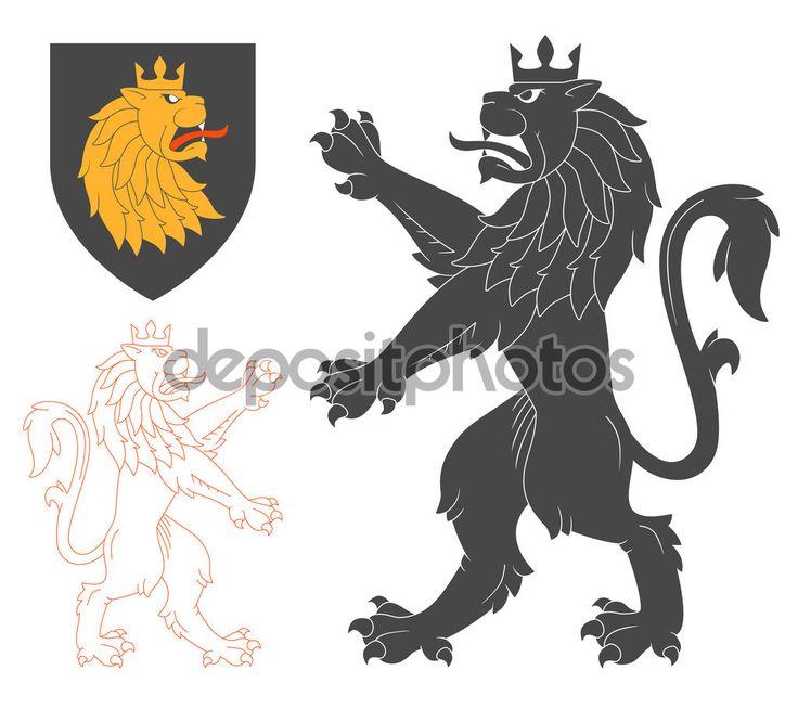 Иллюстрация черный Лев — стоковая иллюстрация #118268214