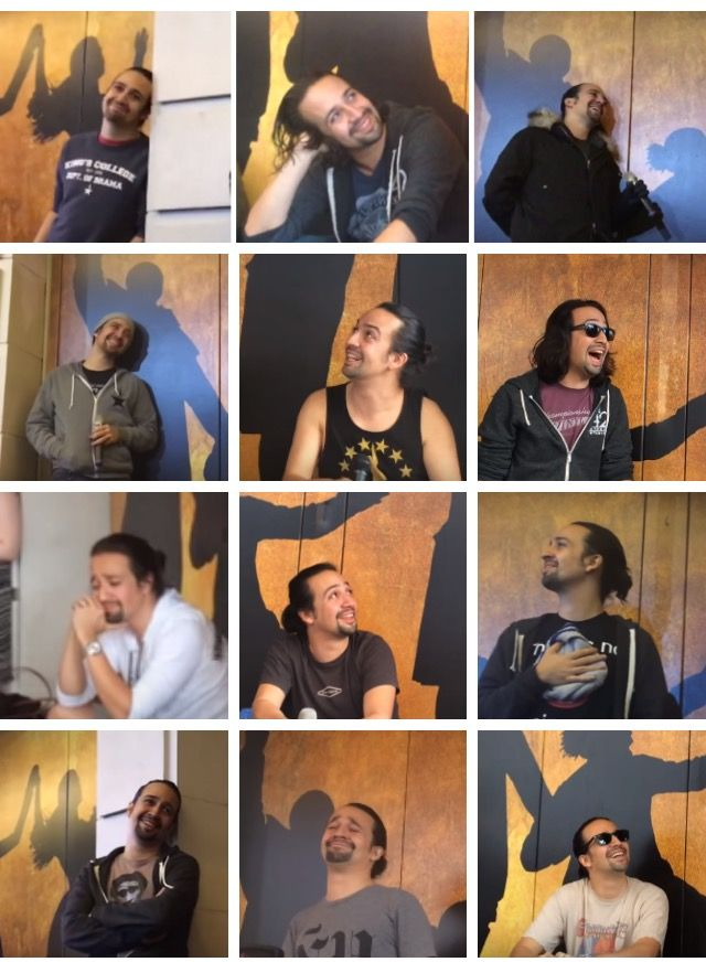A very important collection of faces: Lin-Manuel Miranda watching other people perform at ham4ham