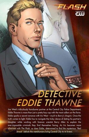 "EXCLUSIVE: Ivan Reis Illustrates Eddie Thawne in ""The Flash"" Profile Card - Comic Book Resources"