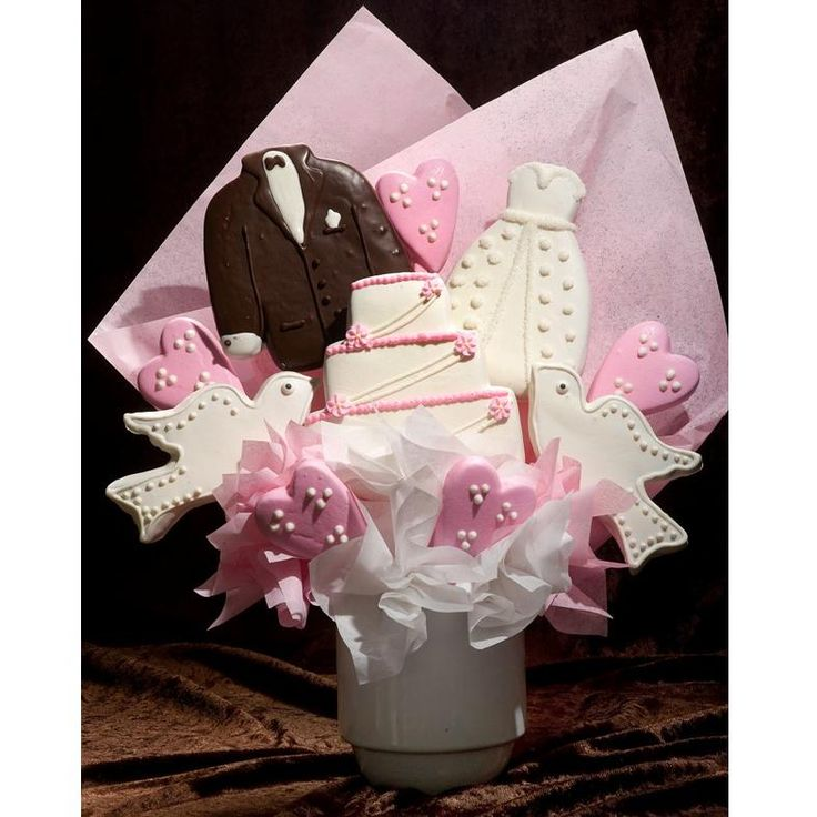 This Wedding Cookie Bouquet Makes A Perfect Gift To Celebrate The Bride And Grooms Special Day