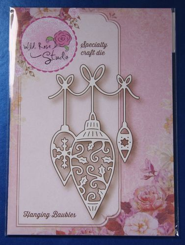 Wild Rose Studio 'Hanging Baubles' Christmas Die SD034 | Craft-House