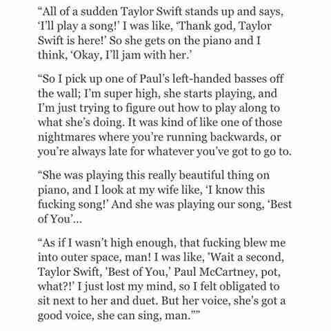June 22, 2016: Dave Grohl on playing with Taylor and Paul McCartney at a party!