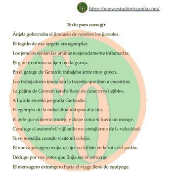 ejemplo de ejercicio 07 letras J / G - Nivel Principiantes