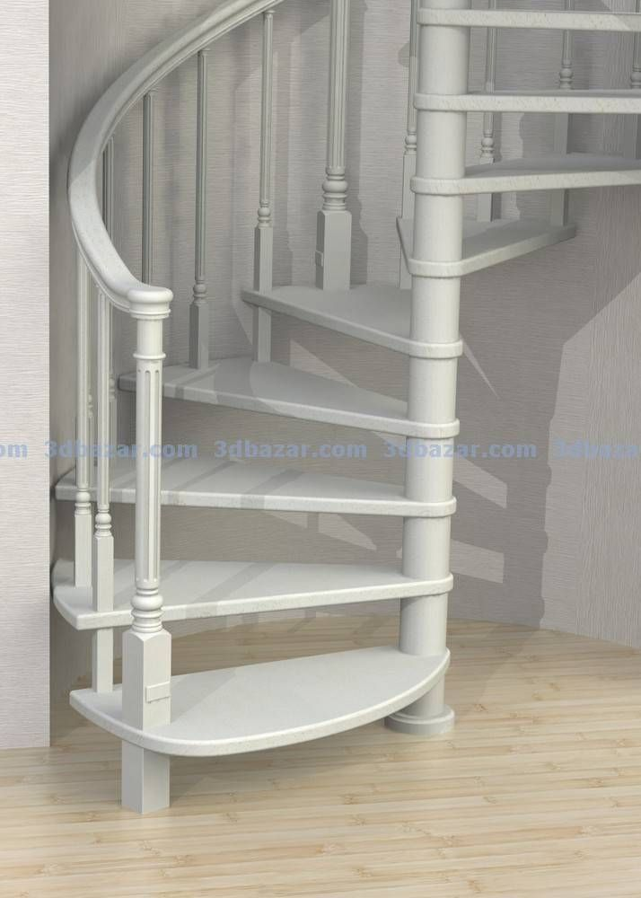 001-Лестница винтовая на центральном столбе