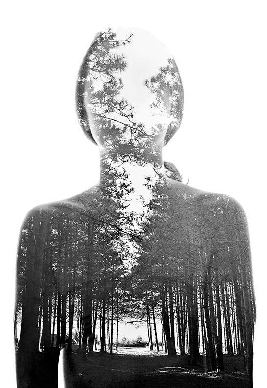 Double Exposure Portraits by Aneta Ivanova